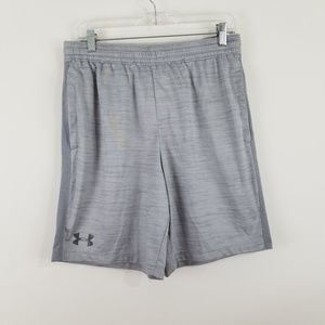 Under Armour Men's Fitted Athletic Shorts Gray L